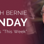 RT @SenSanders: Watch Bernie on @ThisWeekABC on Sunday. Check your local listings: http://t.co/wRdpZoewpc http://t.co/2liHNhgF5A