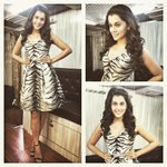RT @DevsB: Styled: @taapsee in @THEIACOUTURE dress and Nayensee Earrings for @LakshmiManchu movie shoot. http://t.co/l7q9ZIwSwM