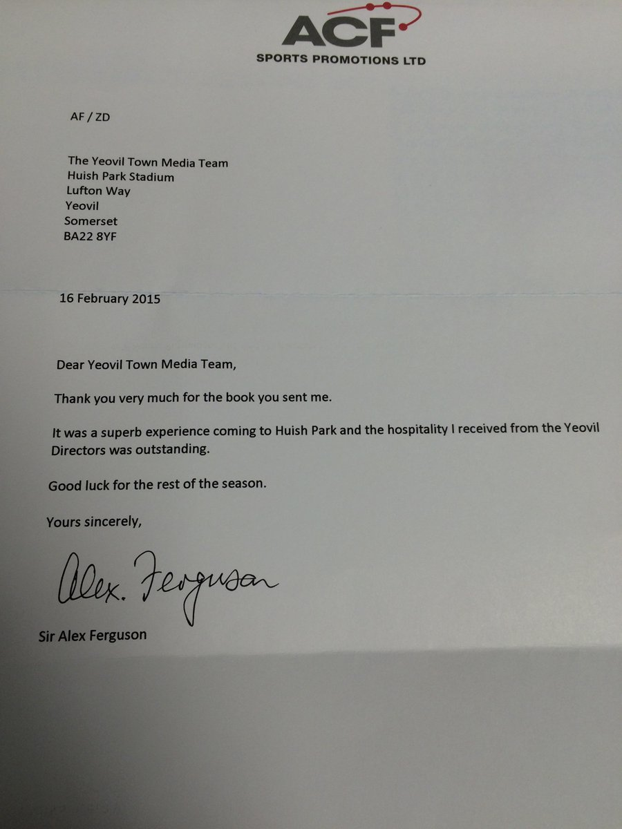 Letter received today. #YTFC http://t.co/61XmosiGsW