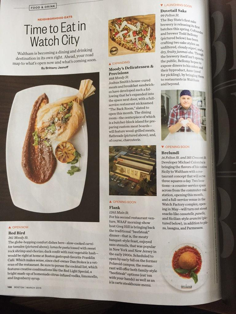 March @BostonMagazine profiles Watch City's top new & coming soon restaurants like @Brelundi & @flankwaltham #Waltham http://t.co/4cztOjUPkQ