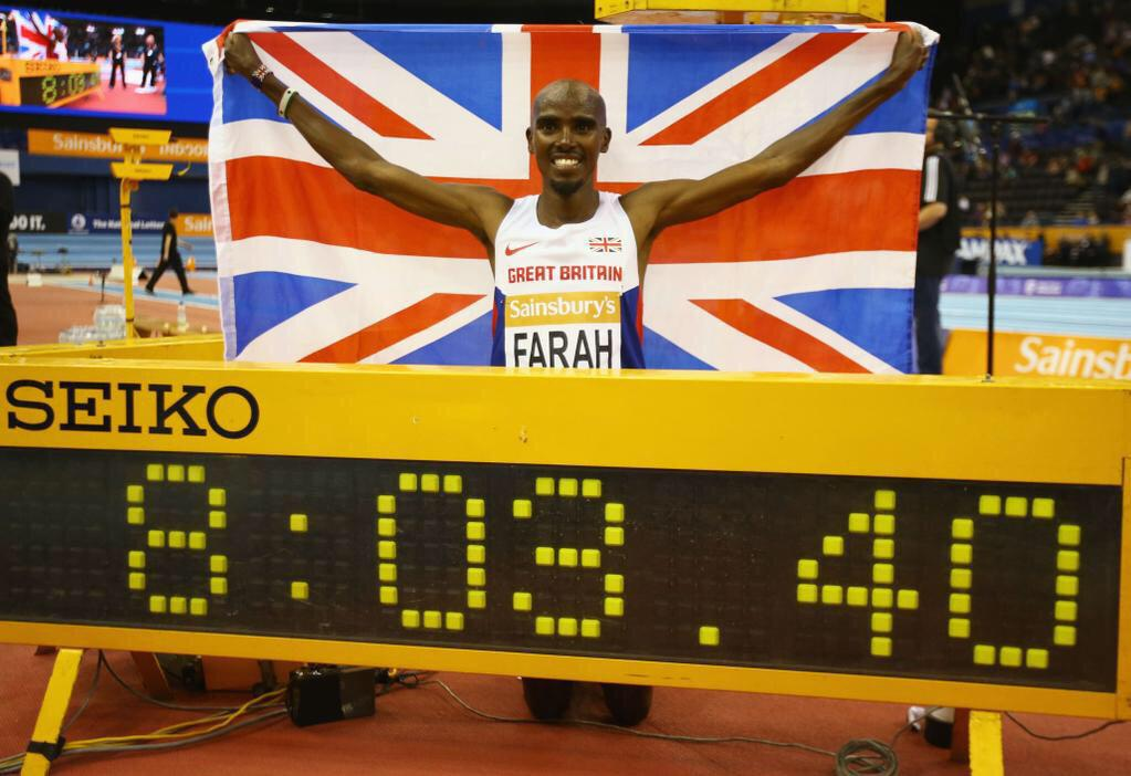 .World record today...!!!! Wow...!!! Thank everyone for your amazing support #onemomile #mofarah #moknows http://t.co/fy7IXoC6wF