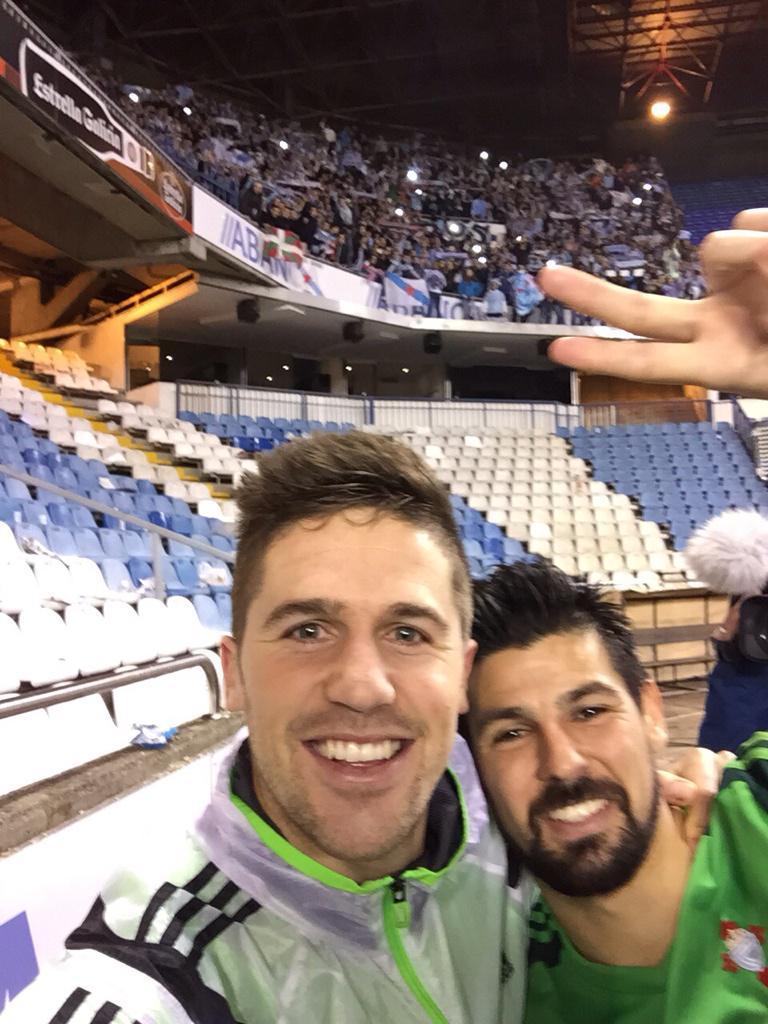 Hemos sufrido pero el derbi se va para Vigo! Graaaan trabajo del equipo y espectacular la afición!! A seguiiiir!!