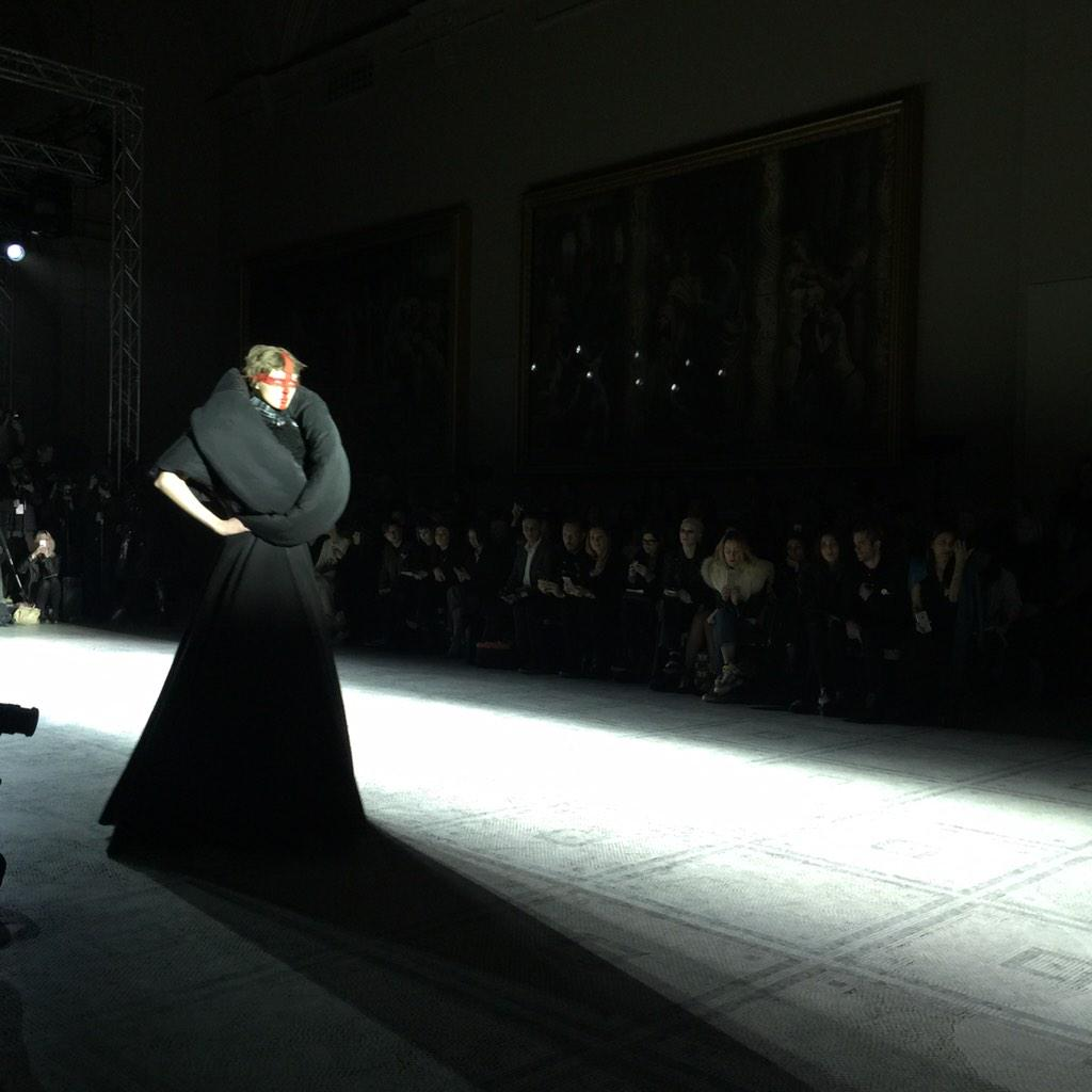 Gareth Pugh makes an arresting return to #LFW with a collection inspired by Joan of Arc