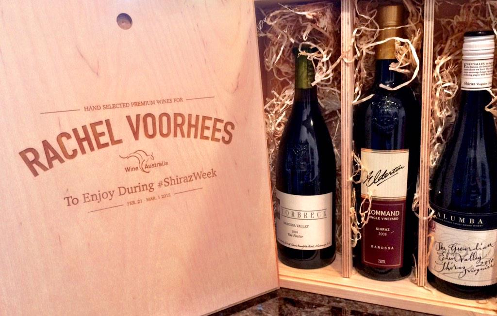Thanks @RickBakas for the awesome #wine gift to help celebrate #ShirazWeek! Can't wait to taste! http://t.co/bNTTDOIDR4