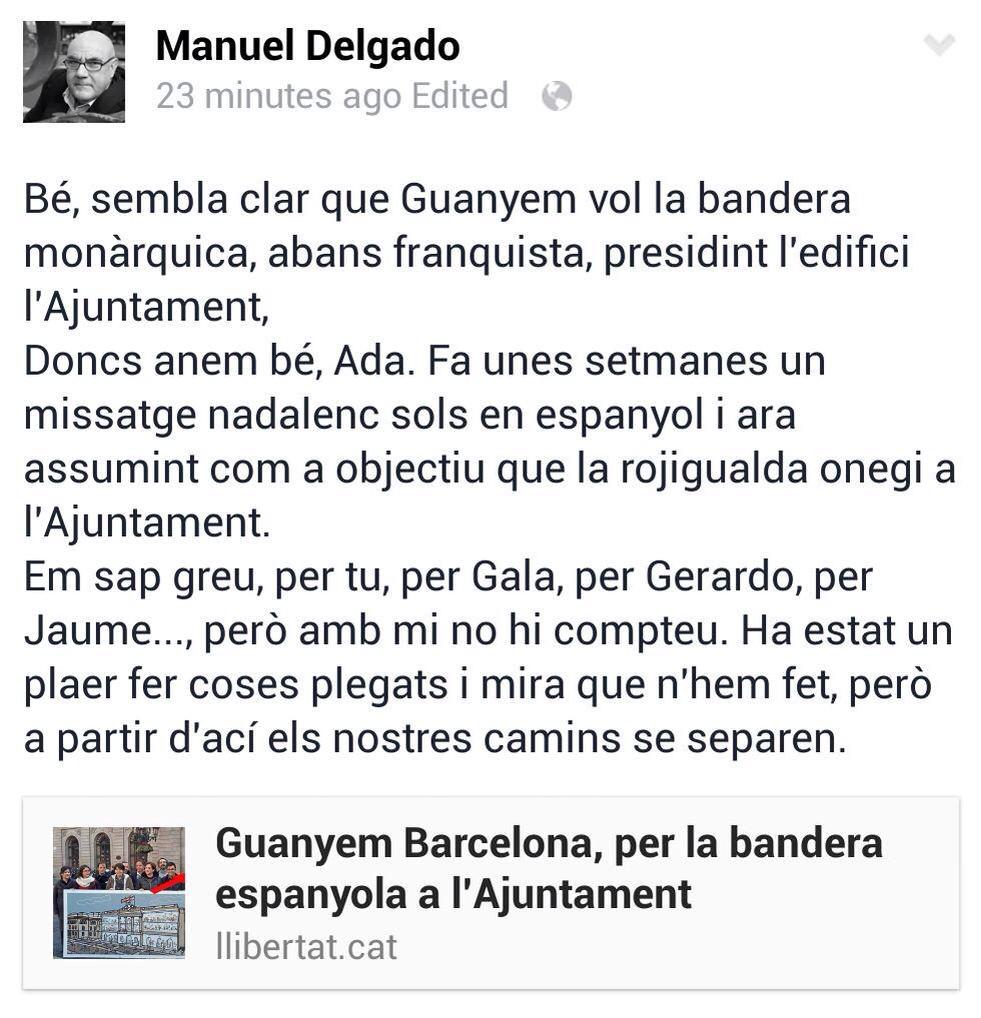 Són els fets i no les paraules, gran Manuel Delgado #Honestedat @CapgiremBCN @cupnacional @COSnacional @PConstituent http://t.co/kpDzxGqtJ5