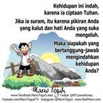 Kehidupan ini indah, karena ia ciptaan Tuhan. Mario Teguh http://t.co/HX64mgD0qo