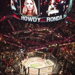 Love how @RondaRousey keeps @CatZingano waiting until SHEs ready to enter the octagon http://t.co/a2x2PHnDoQ