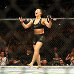 Ronda Rouseys 13-second win is the fastest win in UFC title fight history. (photo via @muls96) http://t.co/yHWtgs608o