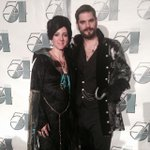 "#evilqueen Regina and #hook costumes from @qohc for Studio 54 ""Saints & Sinners @THEMUSEUM http://t.co/YUkWY2KRo6"