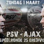 Vandaag om 16.45 uur: topaffiche in de Eredivisie! #PSVAJA http://t.co/LgGrqCJgMg