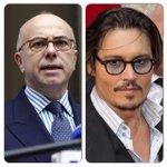 Et presque le même look ;-) RT @EmilieRadioFr: Bernard Cazeneuve a le même âge que Johnny Depp. Bisous. http://t.co/rpWtmI2xRx