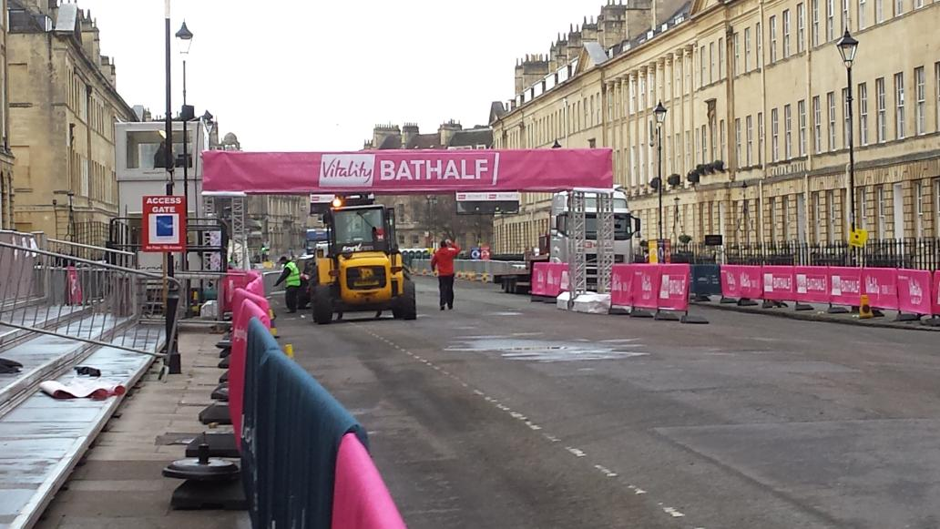 The start/ finish line is starting to look great! It'll look even better when it's filled with all of you ♡ #bathhalf http://t.co/jFgKwPzAMH