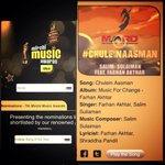 RT @FarhanLiveBand: Nominated 4 Indipop Song of the Year @Mirchi Music Awards. #chuleinaasman  @FarOutAkhtar @salim_merchant @Sulaiman http…