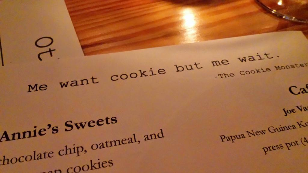 Love this. I feel like Cookie Monster, but ordered entree first @ovalparkgrille #durham #outaboutnc http://t.co/T9PyIGl81v