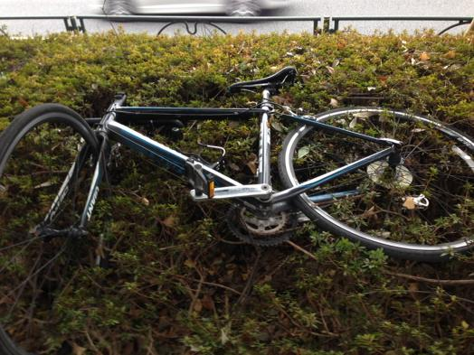 昭島の防犯登録のDEFYが小金井公園に放置されてます。2次盗難防止のためとりあえず警察に届けだしますね。 http://t.co/0ZUUNVT6lL