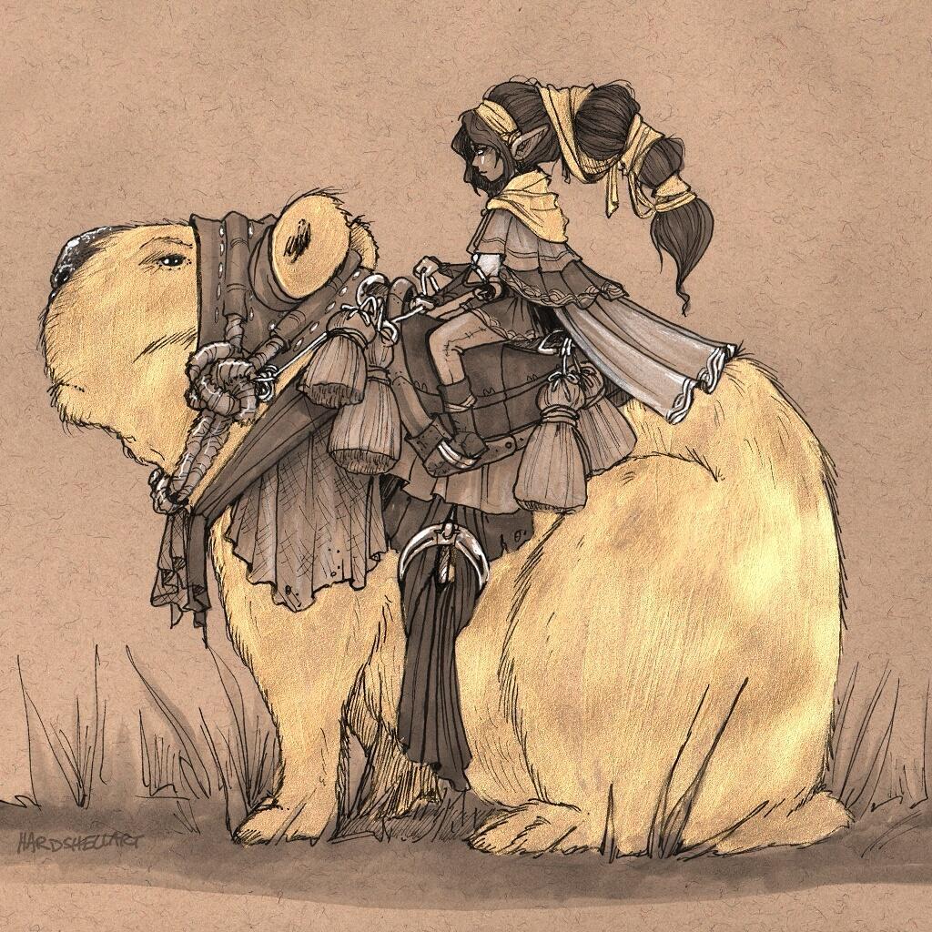 Golden Capybara. Original on #Etsy http://t.co/EI0cAx0zM9 #dailysketch #painting #sketch #illustration #drawing #art http://t.co/kuUOTEkTCA