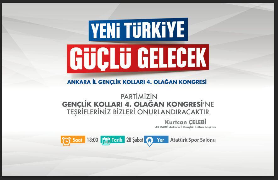 Başbakanımız Sn. @Ahmet_Davutoglu 'nun katılacağı kongremize teşrifleriniz bizleri onurlandıracaktır... @kurtcanc http://t.co/OpL7G1EPpW