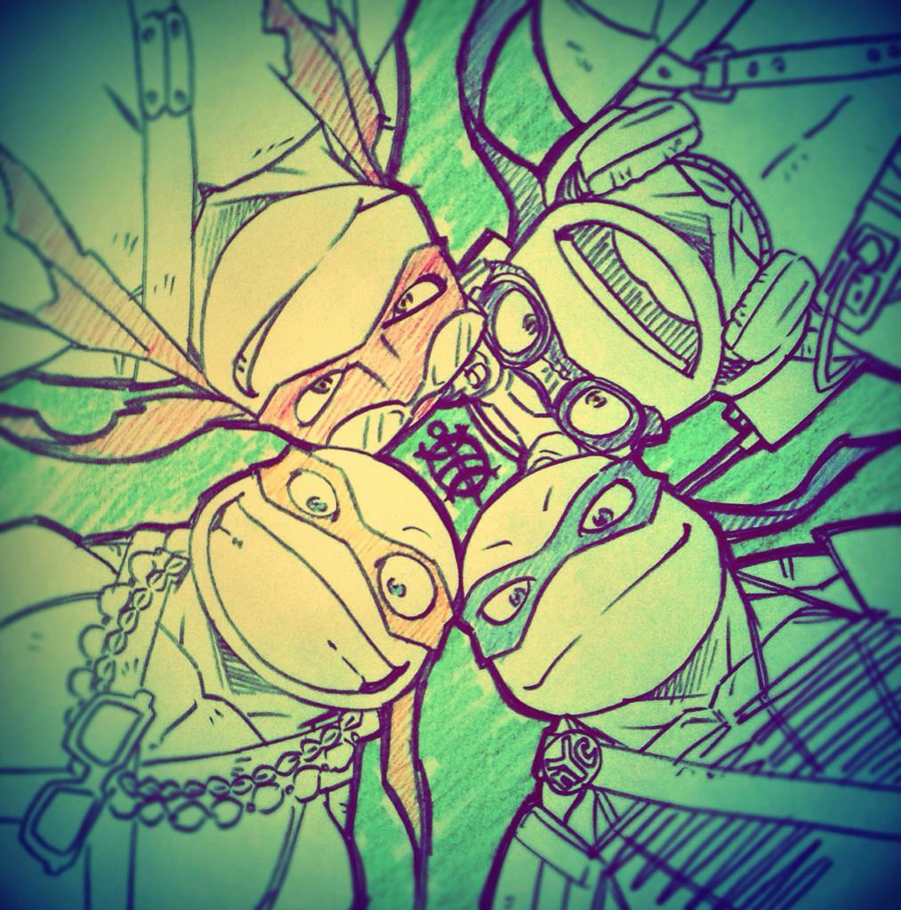 アニメ版キャラデでベイ版実写映画衣装ミュータントタートルズ!ニコロデオンさんありがとう!!