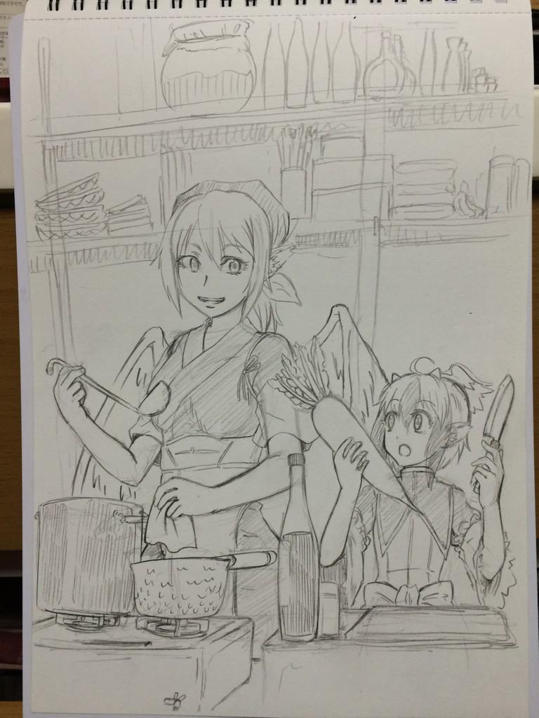 おかみすちーと朱鷺子。 http://t.co/kQGBpK8XFl
