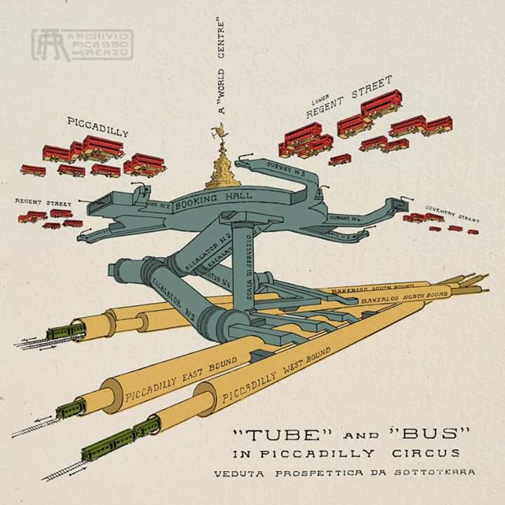 """wow nice RT @hailpixel: """"Tube and bus"""" architectural sketch of Piccadilly Circus http://t.co/TptzhNYDIa"""