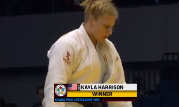 AND SHE WINS....Congratulations @Judo_Kayla for this victory at the Grand Prix Dusseldorf!!! GO TEAM USA! http://t.co/76FyF9BoKi