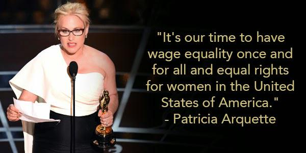 FACT: Women make 78% of what their male counterparts make. Learn more: http://t.co/ZUbWdaIJPr #Oscars http://t.co/YyNgF14gRk