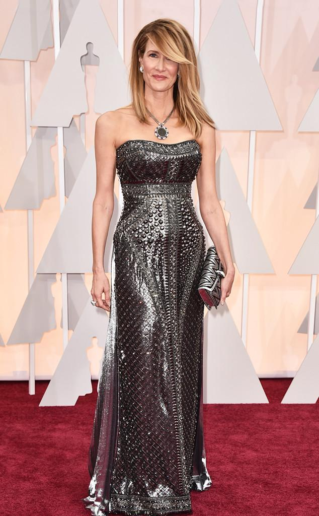 Laura Dern's bejewled phone case gown. Gotta Have It or Make It Stop?!