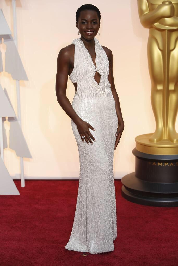 P.S. @Lupita_Nyongo, you look like utter pearl-fection tonight. #Oscars