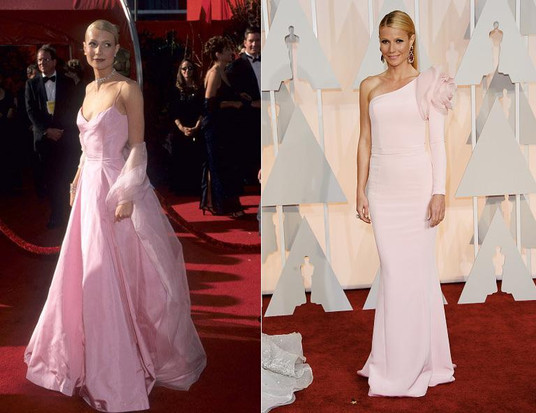 Which pale pink Oscars dress of Gwyneth Paltrow's do you like better? 1998 or 2015? http://t.co/2q45nMLy4H