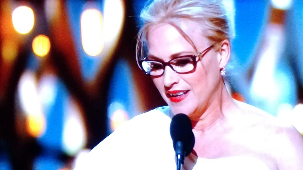 Patricia Arquette is morphing into Meryl Streep. #Oscars2015 http://t.co/1ZJlrNvHmn