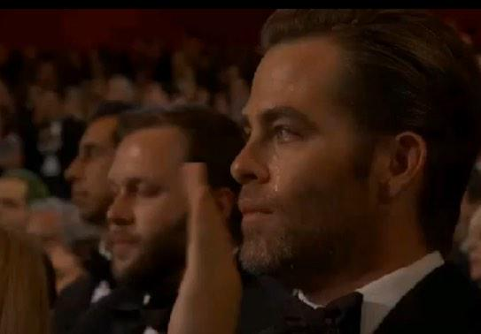 And the Oscar for best man tears goes to... Chris Pine!! http://t.co/UcarjKH4Me
