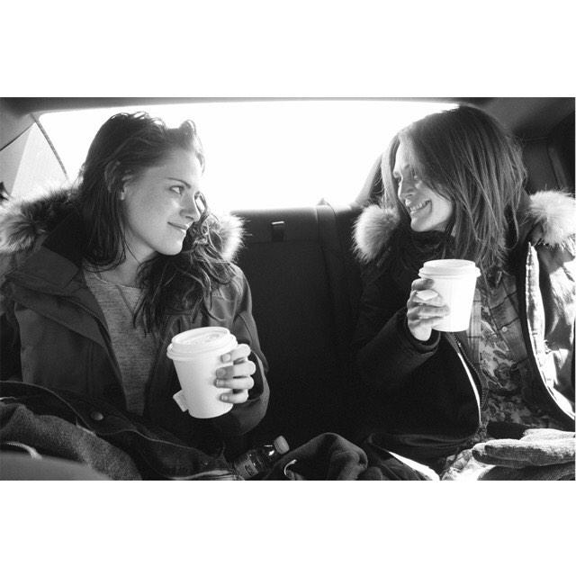 #KristenStewart and Oscar winner  @_juliannemoore on the set of #StillAlice . Photo by Me #LindseyByrnes :) http://t.co/VJ08SHs4Cp
