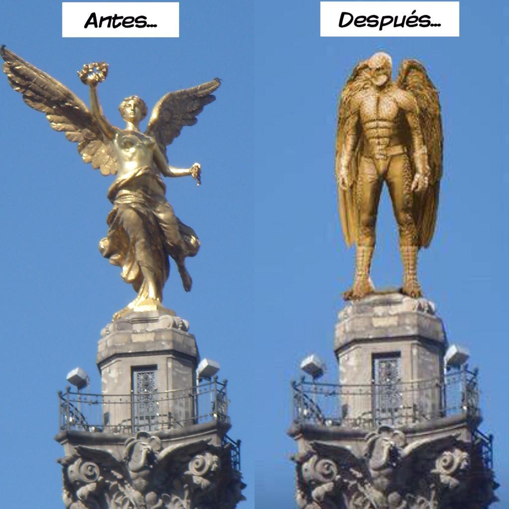 As luce el ngel de la independencia antes y despu s del - Reformas antes y despues ...