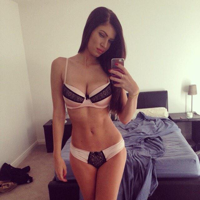 It's #mirrormonday @PlayboyPlus now u all know I never make my bed haha! #mirrorselfie #lingerie #playboymodel