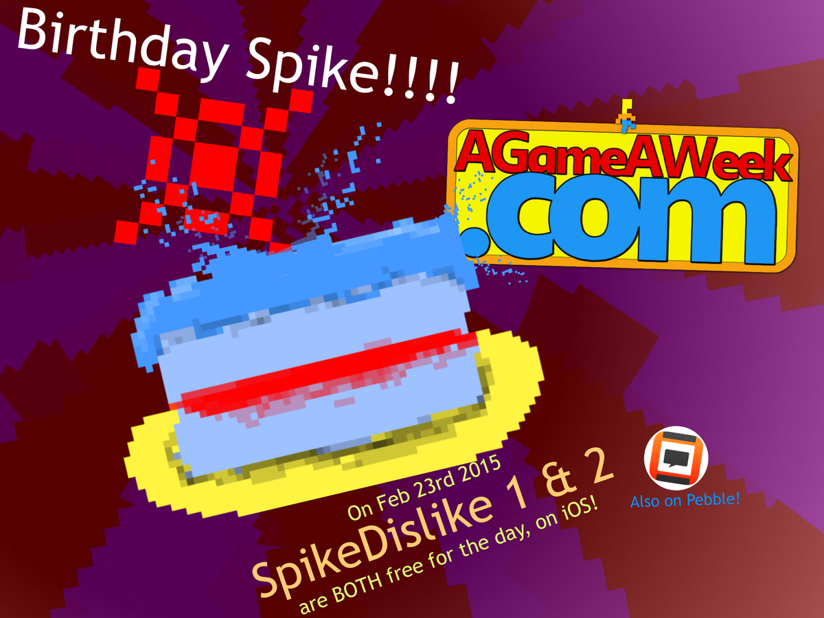 It's my birthday!!  That means..  SpikeDislike is #FREE on #iOS!!!  http://t.co/v7W34U9af2   #iPhone #iPad RT! http://t.co/riGLS1bZqn