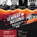#EventYK @technocornerUGM: Semnas: Restructuring Indonesia with 4G | 7 Mar 2015 @ PKKH UGM, 0812 1826 0083 http://t.co/I0yAwTpRlC