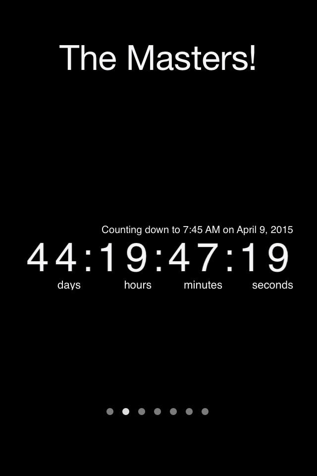44 days and 19 hours remaining until The Masters! http://t.co/F0d3lR8dwG