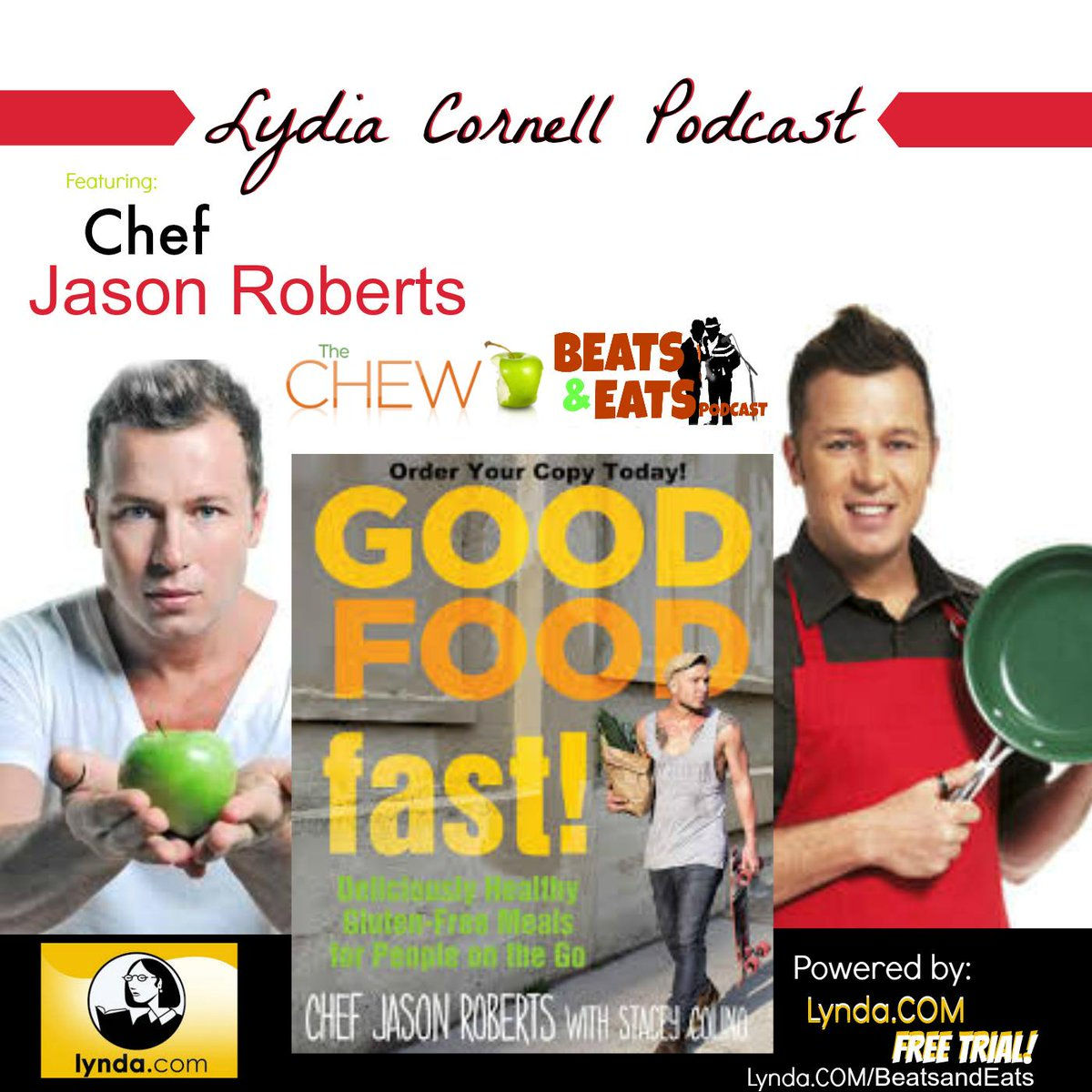 . @LydiaCornell #Podcast w/ @CLNS_Nick & Guest- @ChefJasRoberts! Coming today! Download the Beats and Eats APP! http://t.co/OA10ajf98M
