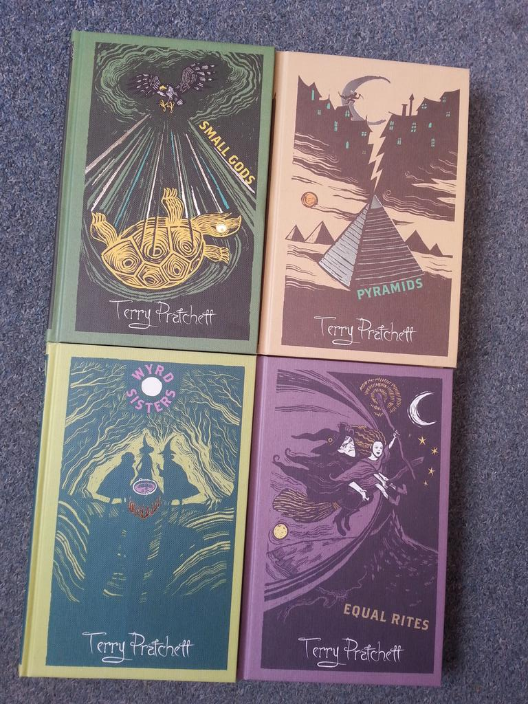#discworld hardbacks. RT by 6pm on 23/2/15 for one chance to win all four. http://t.co/uwM6lbWYpG