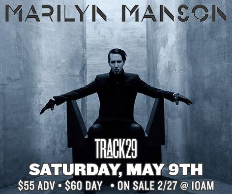Just announced! @marilynmanson @TRCK29 May 9th •18+ $55/$60 ON SALE Fri 2/27 10a http://t.co/HKVHF85EDS #CHA #track29 http://t.co/4850rlAFlh