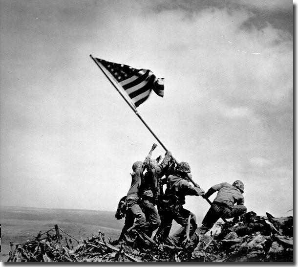 2/23/1945-US Marines raise flag atop Mt. Suribachi on Iwo Jima: http://t.co/z68WJJWz05  http://t.co/gS850sHTMf http://t.co/Qx6VXfxIOJ