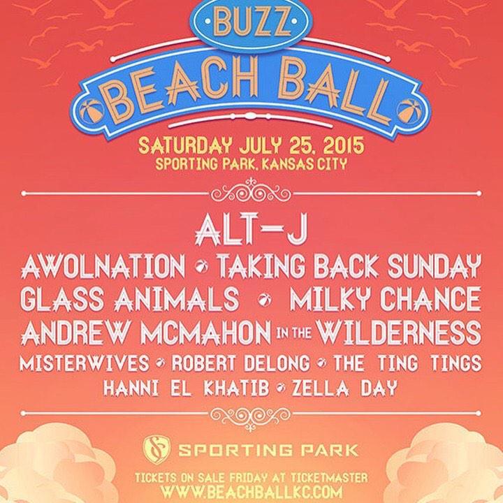 Here it is!  #BuzzBeachBall2015 #kcbreaksbands #listenlonger http://t.co/unTDKTFfsc