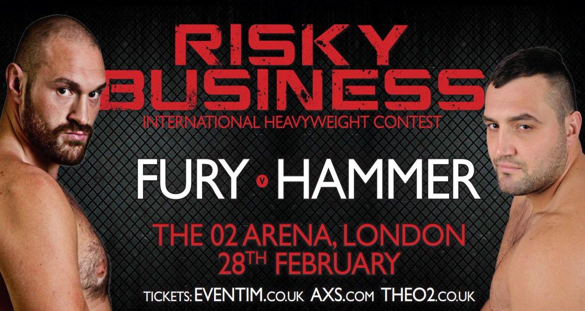 Who wants to win tickets to Saturday's show @TheO2 ? Fury v Hammer, Eubank v Chudinov. RT to enter! http://t.co/z3h5TI4giB
