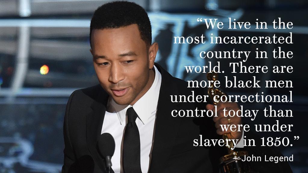 FACT: The 1.68 million Black men in prison is 807,076 above the number of Black men enslaved in 1850. h/t @johnlegend http://t.co/q3tDXmhhG1