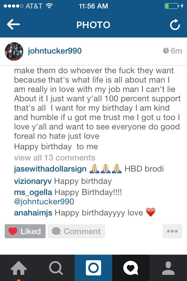 Your doing something right when Rihanna bestfriend wishes u happy bday