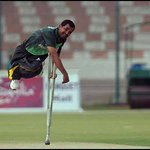 RT @Saj_PakPassion: This is commitment. Pakistan disabled cricketer bowling during Pak's 26 run win over Afghanistan in Karachi #Cricket ht…