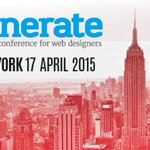Hurry – it's nearly #generateconf NY time! Talks from @jonathanstark and @monteiro. Tickets at http://t.co/PA1T88FMMM http://t.co/dkrB8JbN3Z