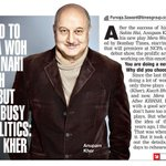 RT @priyaguptatimes: Premiere of Anupam Kher's new play 'Mera Woh Matlab Nahi Tha' to be presented by Bombay Times on Mar 7 @AnupamPkher ht…