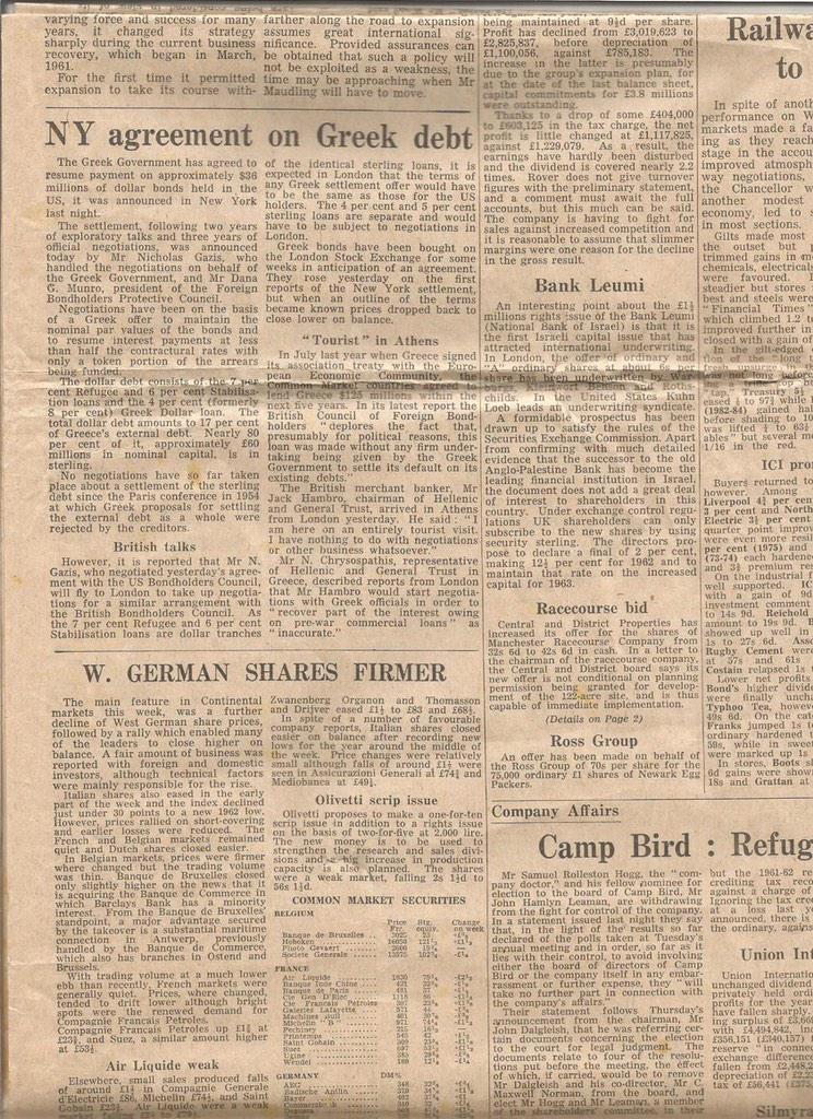 Nekas nekad nemainās. ASV deflācijas briesmas,FED drukā naudu; Grieķija bankrotē,noraksta parādu.Guardian,1962g. http://t.co/undtRXVCgl