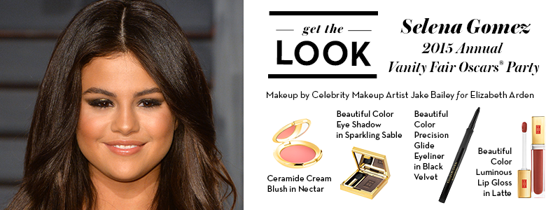 For #SelenaGomez's @VanityFair #Oscars look, @ByJakeBailey used Beautiful Color Eye Shadow & Luminous Lip Gloss. http://t.co/Opa4XNc4Ut